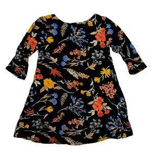 Old Navy Black w/Fall Print Dress